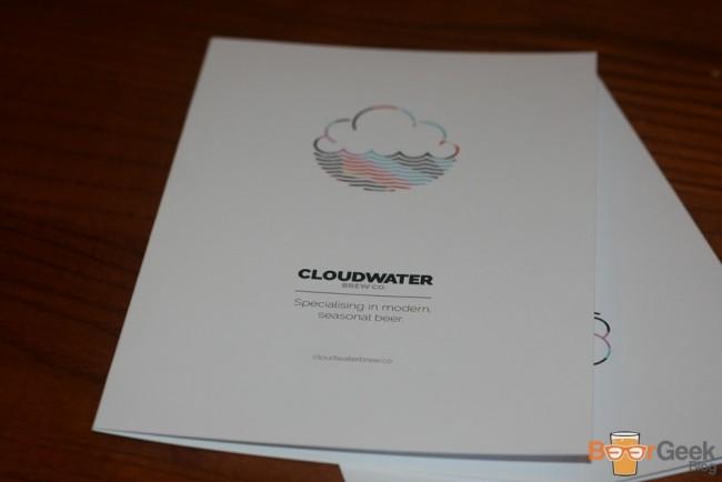 Cloudwater Menu