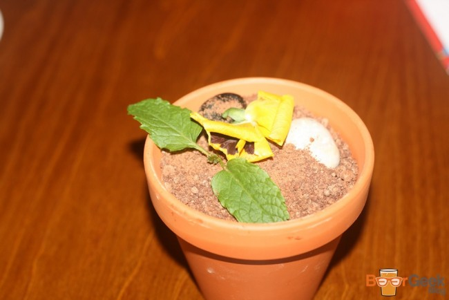 Smoked Chocolate Mousse Plant Pot