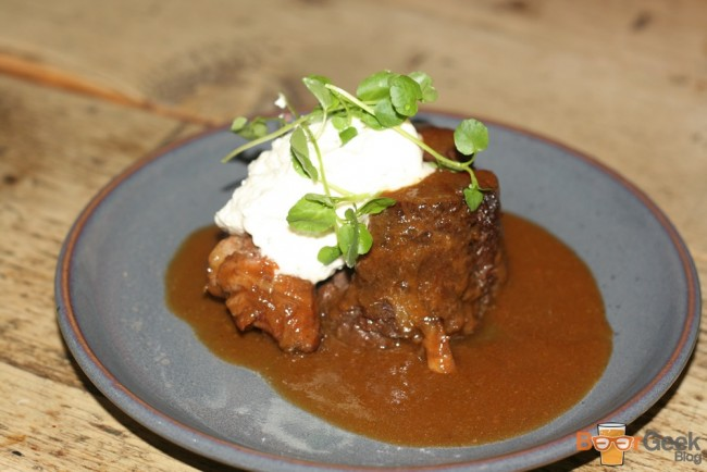Braised Beef Cheek, Horseradish Cream & Parsley