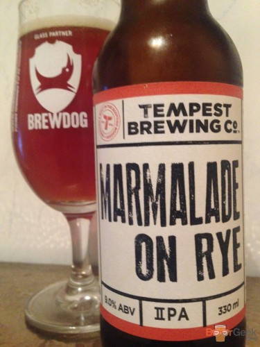 Tempest Brewing Co - Marmalade On Rye